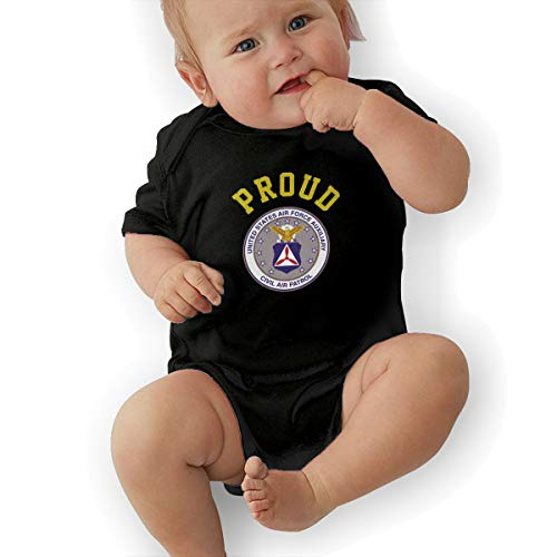 - Indiana Wing Civil Air Patrol United States Squadron Air Force Baby Organic Onesies Organic Bodysuits Black
