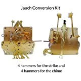 Qwirly Store: J-77 Jauch Conversion Movement Mechanism Kit for Jauch Grandfather - Unit Conversion to Hermle 451-050H.94 Westminster Chime