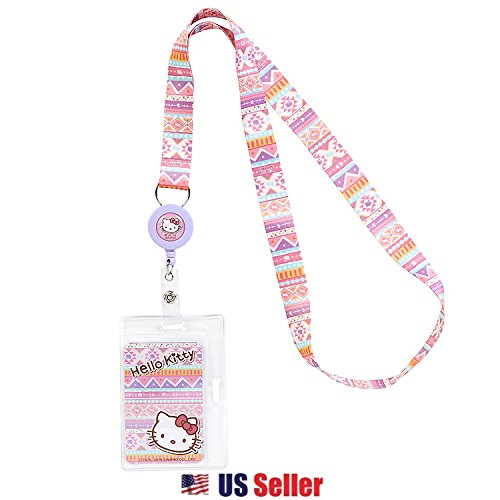(Hello Kitty Sanrio Lanyard Key Leash ID Badge Reel Key Chain : Southwest)