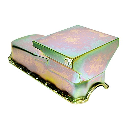 - Assault Racing Products A7480Z Small Block Chevy Zinc Drag Style Oil Pan 6qt 2-Piece Rear Main Driver Side SBC