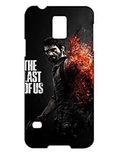 The Last of Us Cell Phone Cover Case Hülle for Samsung Galaxy S5 Mini Funda Piel Cool Game Girls Boys (Negra and Diseño) 3D Solid Plastic Protection Luz Vintage Durable Non Slip Case for Galaxy S5 Mini