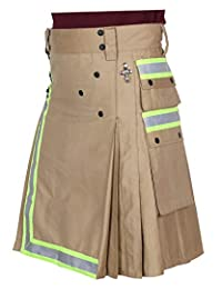 Khaki Fireman Firefighter Tactical Duty Utility Kilt
