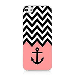 S9Q Anchor Chevron Retro Vintage Tribal Nebula Pattern Hard Case Cover Back Skin Protector For Apple iPhone 5 5S Style E Bow Bowknot Pink