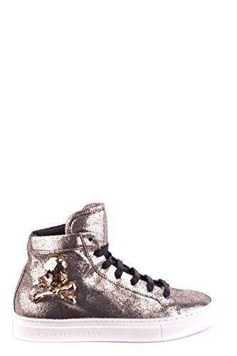 Philipp Plein Damen MCBI237009O Gold Leder Hi Top Sneakers