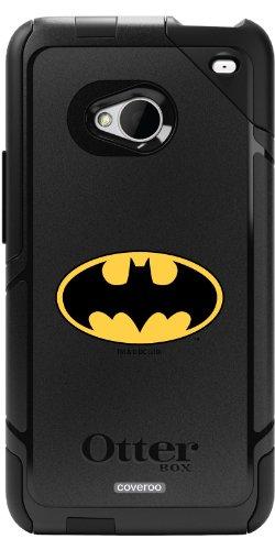 Batman - Emblem design on a Black OtterBox® Commuter Series® Case for HTC One