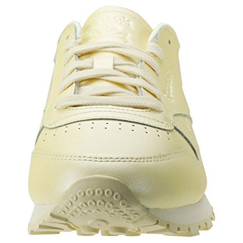 Yellow Amarillo Reebok Yellow Zapatillas Washed Cl Mid Mujer Lthr de Mid Gimnasia Washed para w0OAwTq