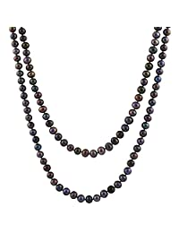 """Handpicked A Quality 10-11mm Grey Baroque Freshwater Cultured Pearl Strand Endless 72"""" Necklace"""