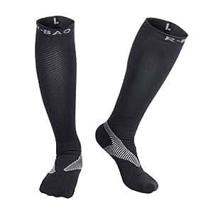 AOLERX Compression Socks (15-20mmHg) for Men & Women - Best Stockings for Running, Medical, Athletic, Edema, Diabetic, Varicose Veins, Travel, Pregnancy, Shin Splints. Size:L
