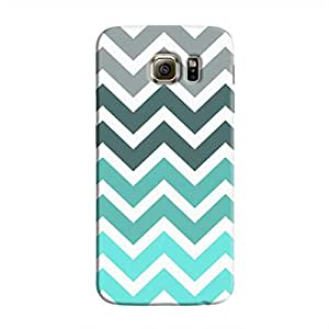Cover It Up - Jagged Blue&Gray Galaxy S6Hard Case