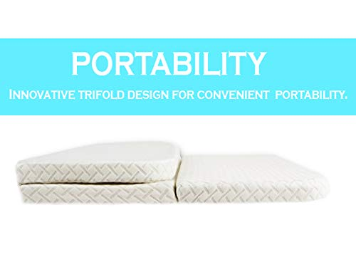 NapYou Amazon Exclusive Pack n Play Mattress, Convenient Fold with Bonus Easy Handle Carry Bag by NapYou (Image #3)