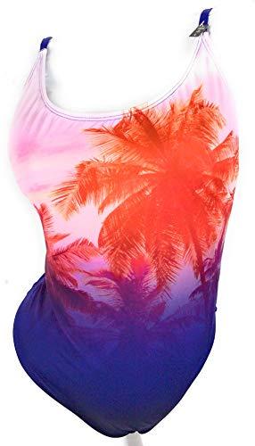 Victoria..Secret Pink One Piece Swimsuit Palm Trees Large