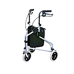 Days Tri Wheel Walker with Loop Lockable Brakes, Easy to Manoeuvre & Height Adjustable Limited Mobility Aid, Comfortable… 39