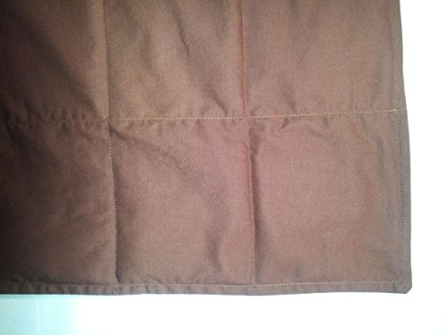 "Peace Weighted Products - Twin Weighted Blanket Brown Cotton 40"" x 70"" (15 Pounds) by Peace Weighted Products"
