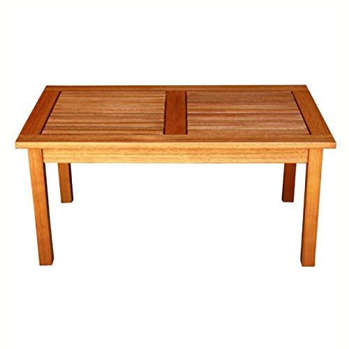 (Patio Tables, Outdoor Indoor Solid Wood Patio Coffee Table in Natural)