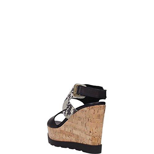IGI&Co - Sandalias de vestir para mujer Nero/nero-grigio Nero/nero-grigio