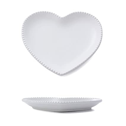 CHOOLD Elegant Ceramic Heart Shaped Dinner Plate/Salad Plate/Dessert Plate/Steak Plate  sc 1 st  Amazon.com & Amazon.com | CHOOLD Elegant Ceramic Heart Shaped Dinner Plate/Salad ...