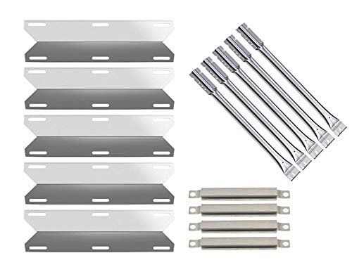 Wondjiont Grill Burner, Crossover Tube, Heat Plate, Replacement Parts for Charmglow 720-0396, 720-0578 Gas Grill ()