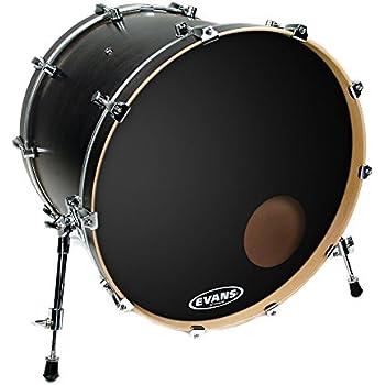 Evans EQ3 Resonant Black Bass Drum Head, 22 Inch