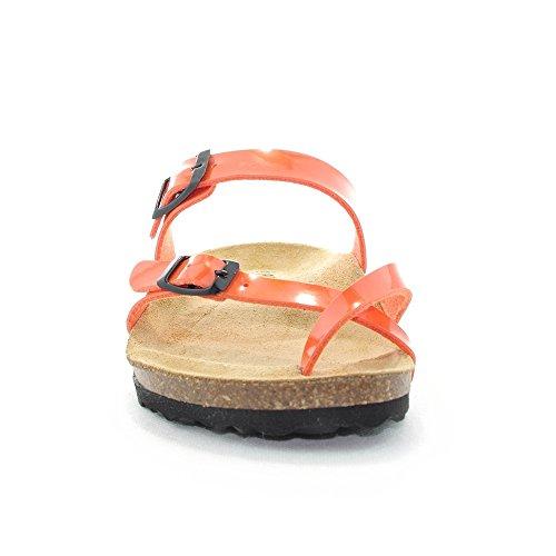 PLAKTON Women's Clogs & Mules Orange MezJbfp