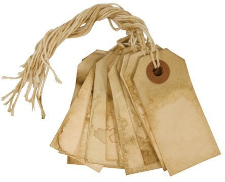 Primitive Tags - Handmade Tea Stained Paper Tags Country Primitive Gift Décor