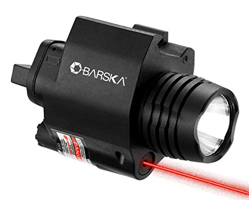 Barska 2nd Generation Mount 5mW Red Laser Sight/Flashlight Combo by BARSKA