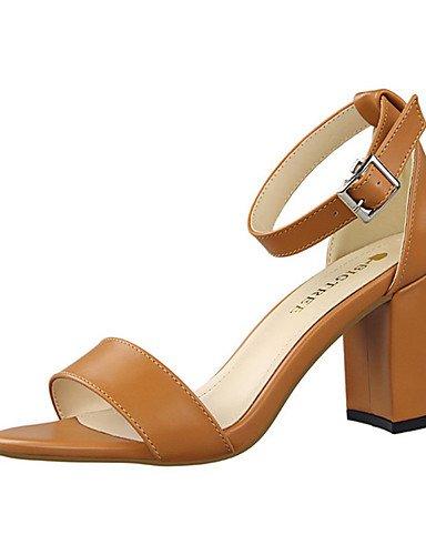 Cn35 Femme De Talons Poil gros Almond polyuréthane À 5 Eu36 Ggx Chameau Uk3 chaussures 5 us5 talons décontracté Amande Gris Rouge Blanc Chaussures noir Talon 5qzSa