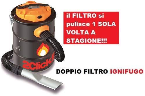 W8020 color NERO AspiraCenere Ignifugo Fire/&box 2CLICK cod