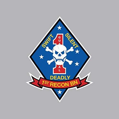 1st Recon Battalion USMC Outline Sticker Vinyl Decal Sticker Made in -