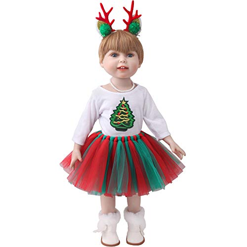Christmas themed doll clothing set