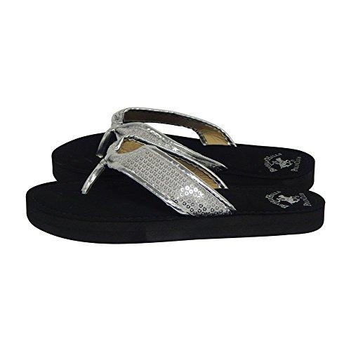 80ead0837 high-quality Beverly Hills Polo Club Fara Women's Sequin Flip Flop Sandal  Thong