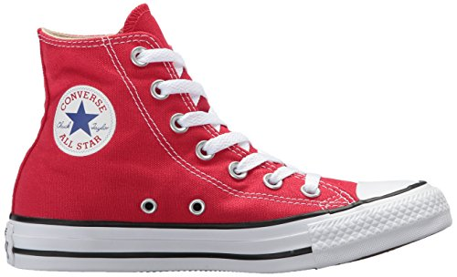 Adulto Unisex – Rosso Red All Star Canvas Sneaker Hi Converse CTPAq0wx