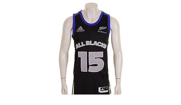 adidas Todos Los Blacks Nueva Zelanda 2015 NBA de Pelota de Baloncesto Camiseta de Fútbol Para Hombre, Color Negro, Tamaño XXXL: Amazon.es: Ropa y ...