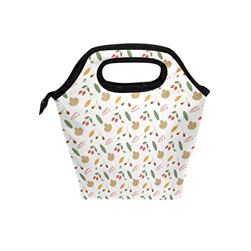 Insulated Lunch Boxes Reusable Acorns Autumn Oak Leaves for sale  Delivered anywhere in USA