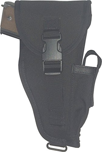Fire Force Alice Pistol Holster with Flap and Magazine Pouch Made in USA (Black)
