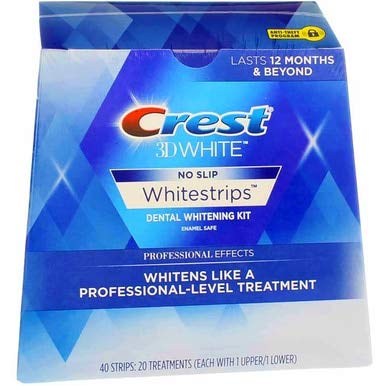 Crest 3D No Slip Whitestrips Professional Effects Teeth Whitening Kit 20 ea (Pack Of 2)