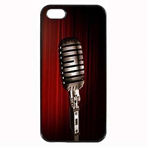 Microphone close-up Unique Custom Image Case Case For Ipod Touch 4 Cover Case For Ipod Touch 4 Cover Diy Durable Hard for Case For Ipod Touch 4 Cover , High Quality Plastic Case By Argelis-sky, Black Case New