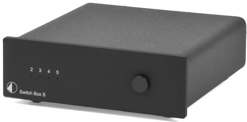 Pro-Ject Audio - Switch Box S - Input expansion for amplifiers/preamplifiers - Black