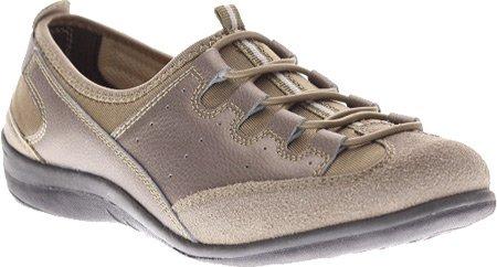 Lente Stap Dames Opladen Lichtgewicht Mode Sneaker Brons Leder / Lycra Combo