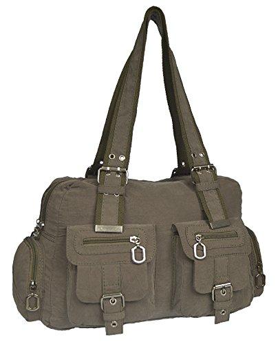 Tasche Damentasche Handtasche Stofftaschen Schultertasche 1041 Grau