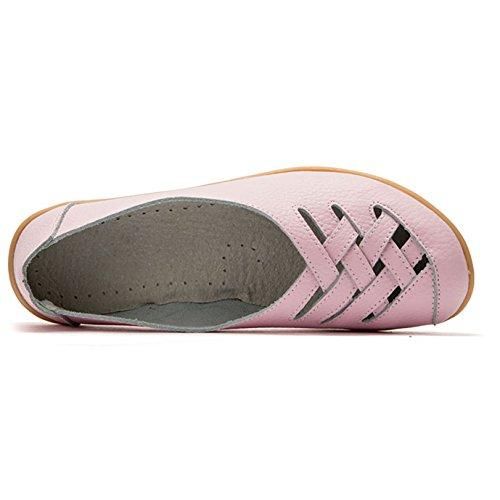 Zapatilla Mujer Qfish Cuero De Baja Rosa Yf6xwSv4q