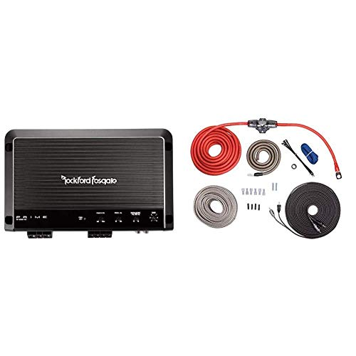 Best Price Rockford Fosgate R1200-1D Prime 1,200 Watt Class-D Mono Amplifier Bundle with Rockford RF...