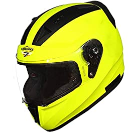 Steelbird SA-1 7Wings Aeronautics Full Face Helmet (Large 600 MM, Glossy Fluo Neon with Clear Visor)