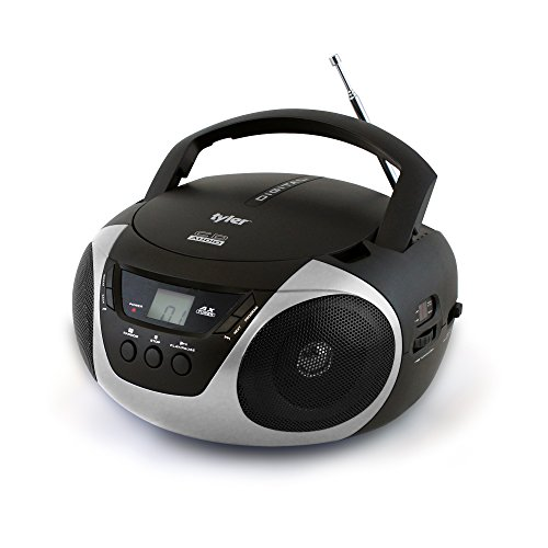 Tyler Portable Sport Stereo CD Player TAU101-SL with AM/FM Radio and Aux & Headphone Jack Line-in...