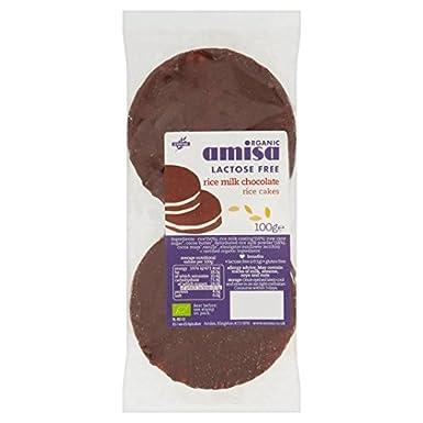 Revestido tortas de arroz 100g amisa Orgánica Sin Lactosa arroz Chocolate con leche: Amazon.es: Alimentación y bebidas