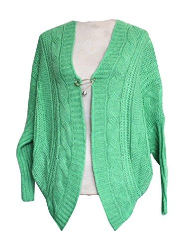Cardigan Chaud Pull Coat Gilet Manches Tricot Longues Femme Sweats Vert Veste Jumper Chandail Hiver Manteau Lache En wZ01A7qn8