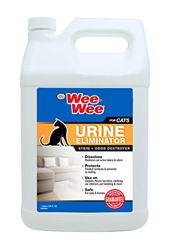 Four Paws Wee-Wee Cat Urine Eliminator Stain & Odor Destroyer, 128 oz