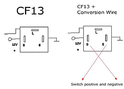 41jDZ7Bhc1L._SX425_ amazon com 3 pin cf 13 led flasher fix w conversion wire for 4 pin wiring diagram at crackthecode.co