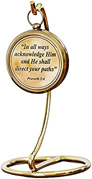 Engraved Confirmation Compass with Quote   First Communion Gifts for Boys   Christian Religious Gifts for Men