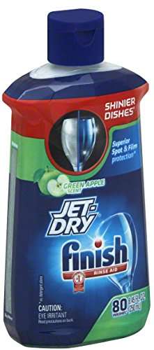 Finish Jet Dry Rinse Aid, Dishwasher Rinse Agent, Green Apple, 8.45 Ounce ()