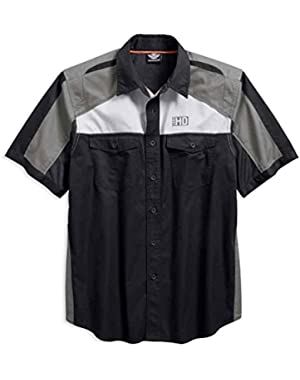 Men's Performance Vented Colorblocked Woven Shirt 96423-18VM